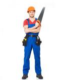 handyman with saw
