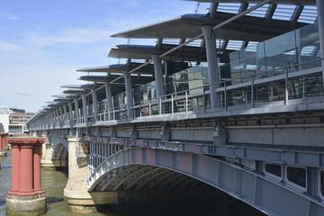 Blackfriars railway bridge over the River Thames