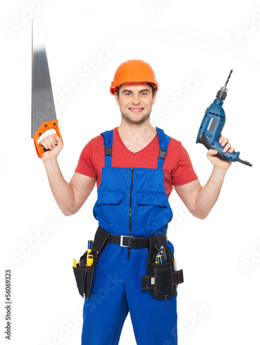 Portrait of manual worker with tools