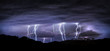 night landscape with lightning - 56069746