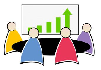 réunion au bureau - statistiques