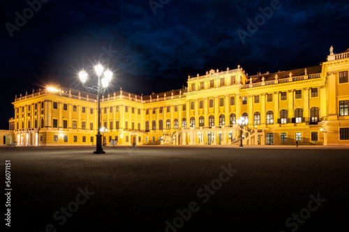 Schönbrunn Palace at Night - Vienna, Austria