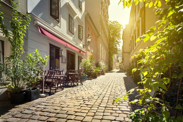 Alley at Spittelberg - Old town, Vienna, Austria