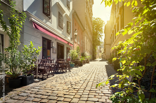 Foto op Canvas Wenen Alley at Spittelberg - Old town, Vienna, Austria