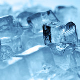 ice cubes close up