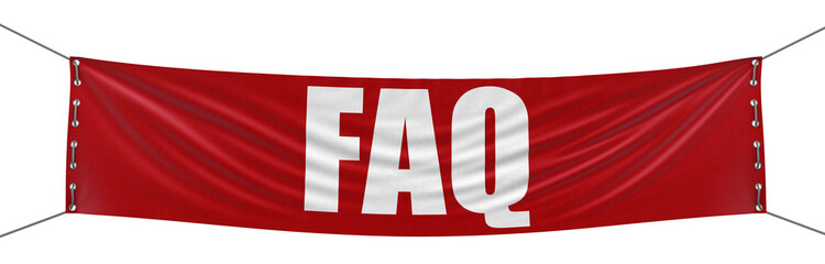 FAQ Banner (clipping path included)