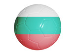 Bulgarian flag graphic on soccer ball isolated on white