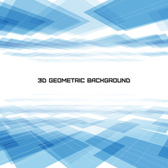 3D Geometric blue background
