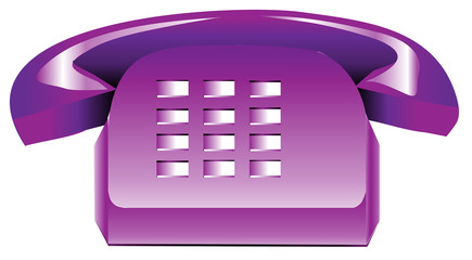 Purple Telephone
