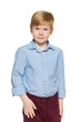 Fashion red-haired boy