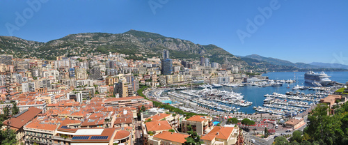 Wide Panorama of Monaco Monte Carlo