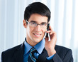 Businessman with cellphone