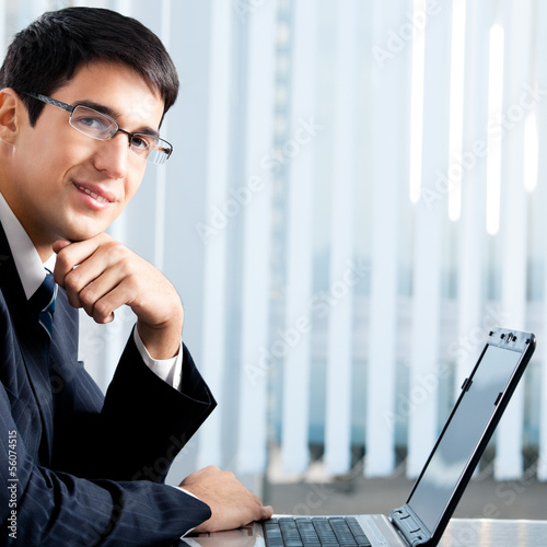 Businessman working with laptop