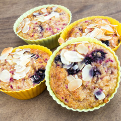 blueberry-raspberry muffins