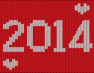 Knitted vector new year 2014