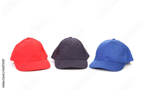 Working caps isolated on white