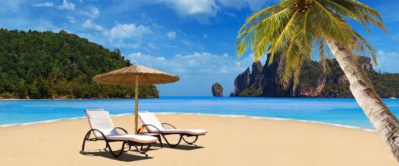 Tropical beach of Phi Phi island