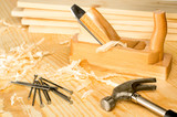 Carpentery variety of woodwork tools