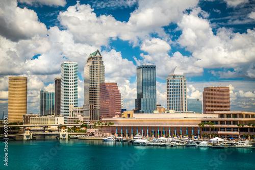 Plagát Tampa Florida skyline