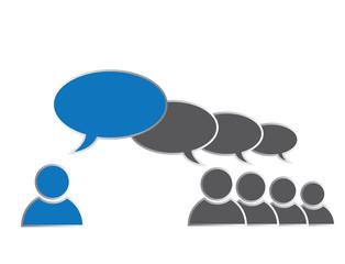 Leadership concept, Social Media