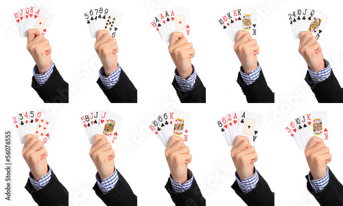 The hands of poker, ranking