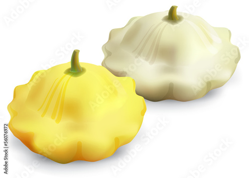 Patty pan Squash patison isolated