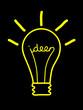 """""""IDEEN"""" Sinnbild (Innovation Kreativität Lösung Projekt Team)"""