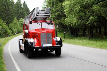 Antikes Feuerwehrfahrzeug