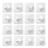 Set white arrows icons, vector Eps10 illustration.