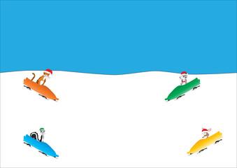 Cartoon Animal Toboggan Run
