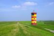 Leinwanddruck Bild - Leuchtturm an der Küste