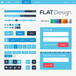 Flat web and mobile design elements