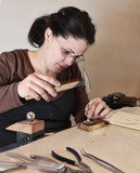 Female Jeweler Working