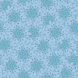 vector seamless blue flower background