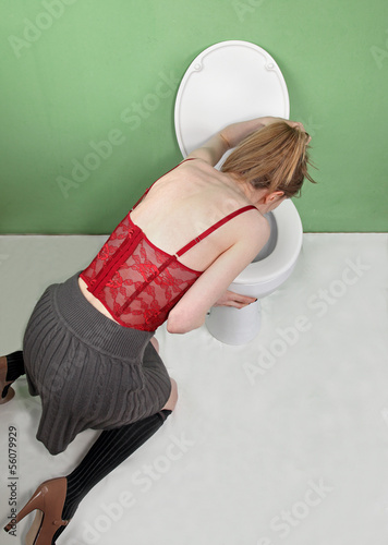 Woman vomiting