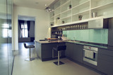 Modern minimalism style kitchen interior