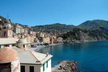 Baia di Camogli, Liguria, Italia