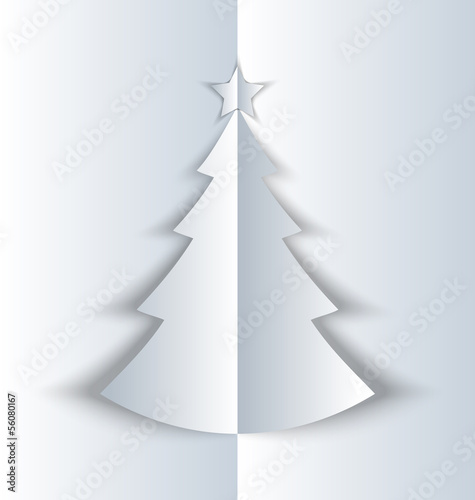 Simple folded Christmas tree