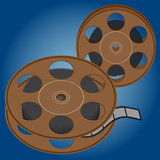 Film roll for movie projector