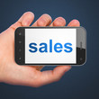 Marketing concept: Sales on smartphone