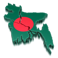 Bangladesh (clipping path included)