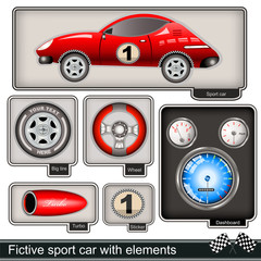 sport car with elements