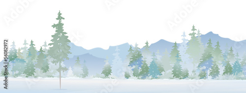 Vector of winter landscape.