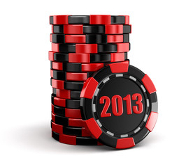 Casino chip stacks 2013 (clipping path included)