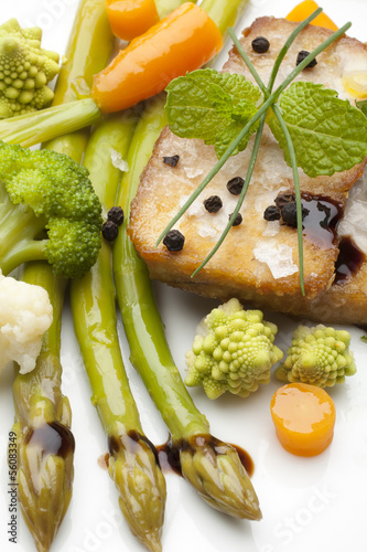 vegetables with fish