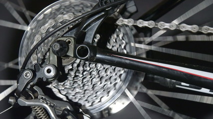 Bike detail in motion