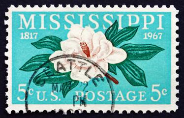 Postage stamp USA 1967 Magnolia, Flowering plant