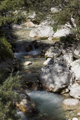 The river Soca in Slovenia