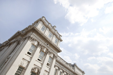 Low angle view of Old Royal Naval College; Greenwich; London