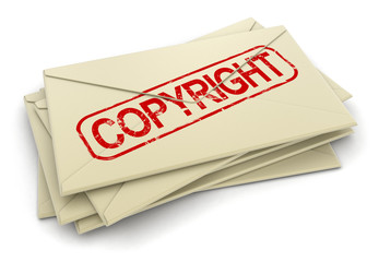 copyright letters (clipping path included)
